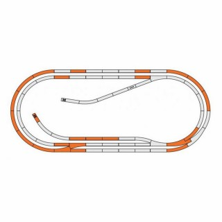 Coffret rails geoline D-HO-1/87-ROCO 61103