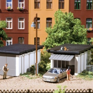 2 garages voitures-HO-1/87-AUHAGEN 11420
