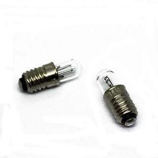 2 ampoules cylindriques à visse E5.5  16 volts -HO-1/87-9732
