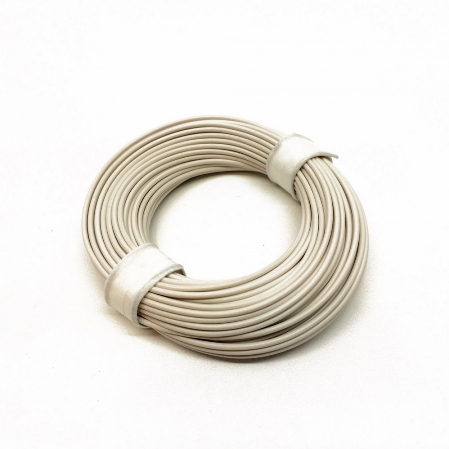 Câble blanc souple cuivre 10ml 0.14mm2