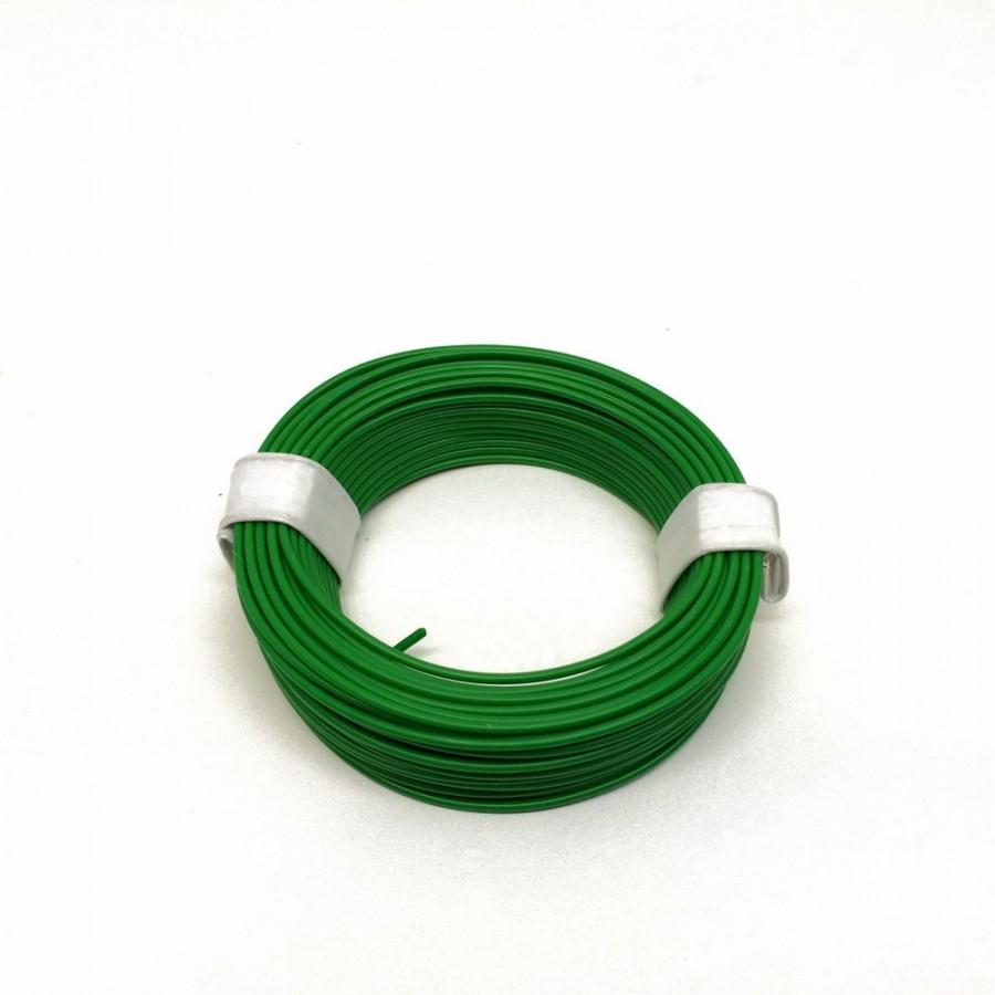 Câble vert souple cuivre 10ml   0.14mm2