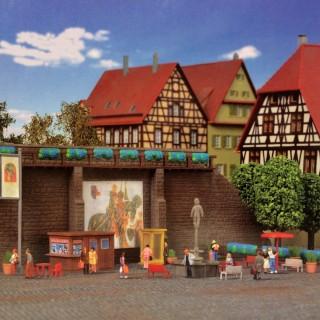 Mur d'enceinte avec décor urbain-N-1/160-KIBRI 37366