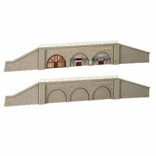 2 ensembles arcades avec mur de soutien-N-1/160-KIBRI 37671