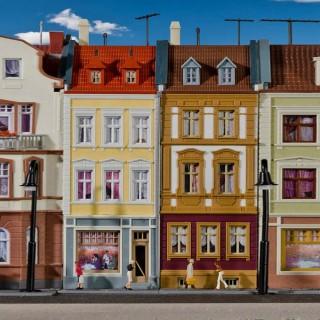 2 maisons de ville-HO-1/87-KIBRI 38383