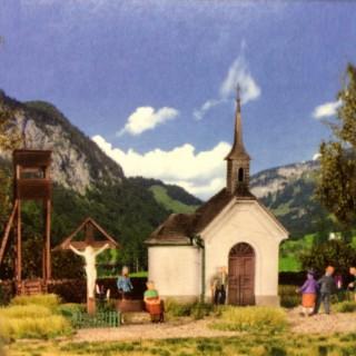Petite chapelle de montagne avec accessoires -HO-1/87-KIBRI 39780