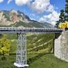Pont droit 1 voie métallique-HO-1/87-KIBRI 39705