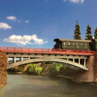 Pont droit acier 1 à 2 voies-N-1/160-KIBRI 37668