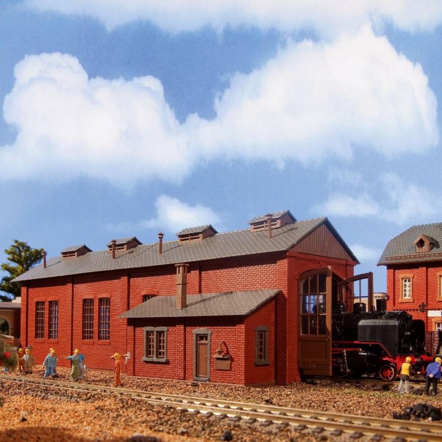 Remise à une locomotive -HO-1/87-VOLLMER