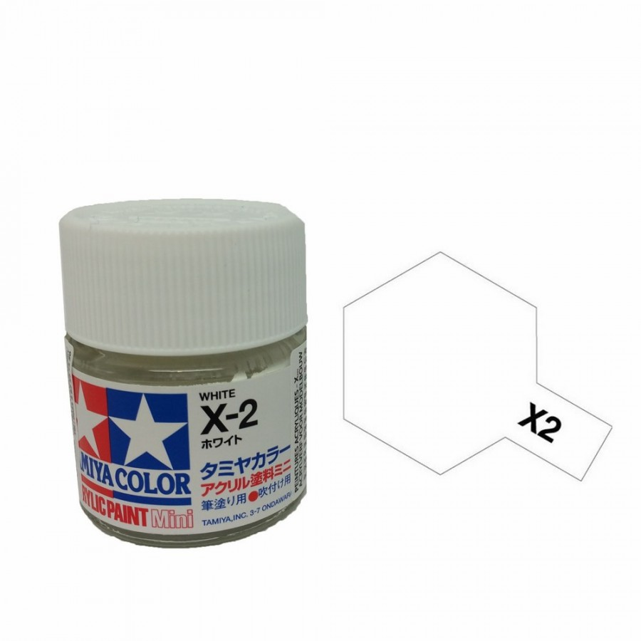 blanc brillant pot de 10ml-TAMIYA X2