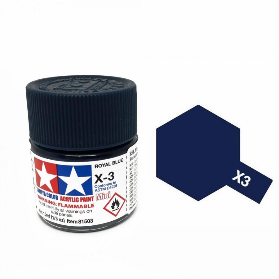 Bleu royal brillant pot de 10ml-TAMIYA X3