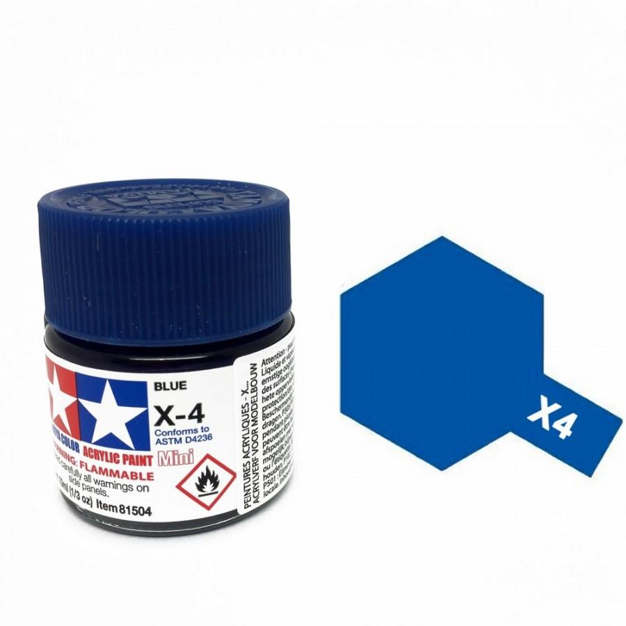 Bleu brillant pot de 10ml-TAMIYA X4