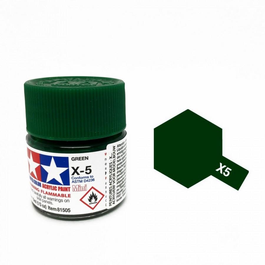 vert brillant pot de 10ml-TAMIYA X5