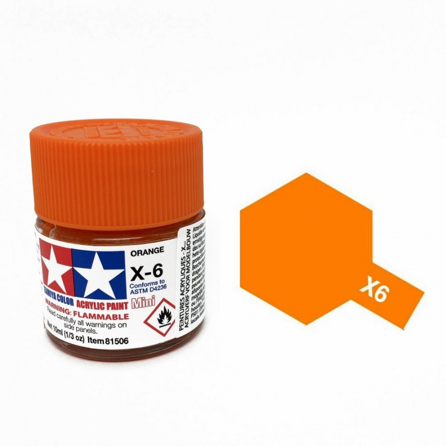 Orange brillant pot de 10ml-TAMIYA X6