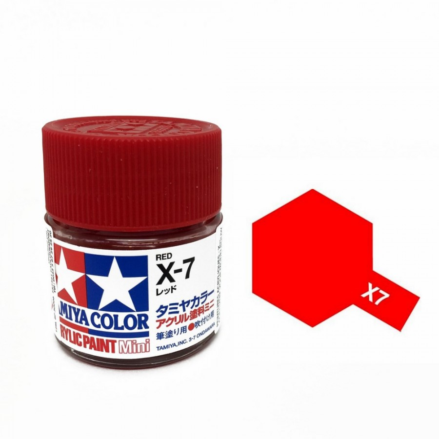 Rouge brillant pot de 10ml-TAMIYA X7