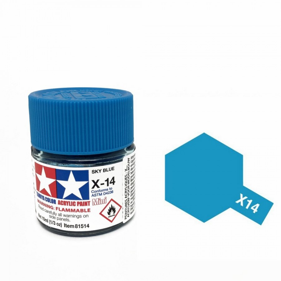 Bleu ciel brillant pot de 10ml-TAMIYA X14