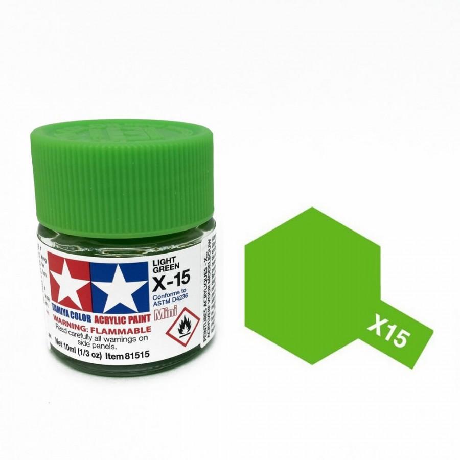vert clair brillant pot de 10ml-TAMIYA X15