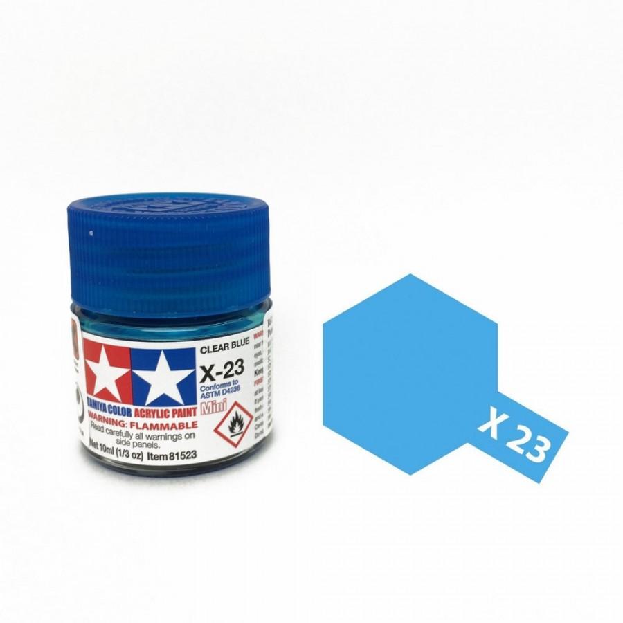 Bleu translucide pot de 10ml-TAMIYA X23