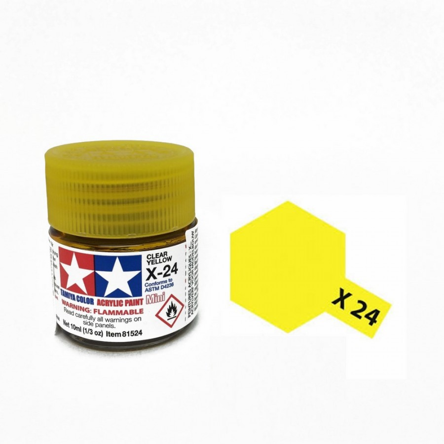 Jaune translucide pot de 10ml-TAMIYA X24