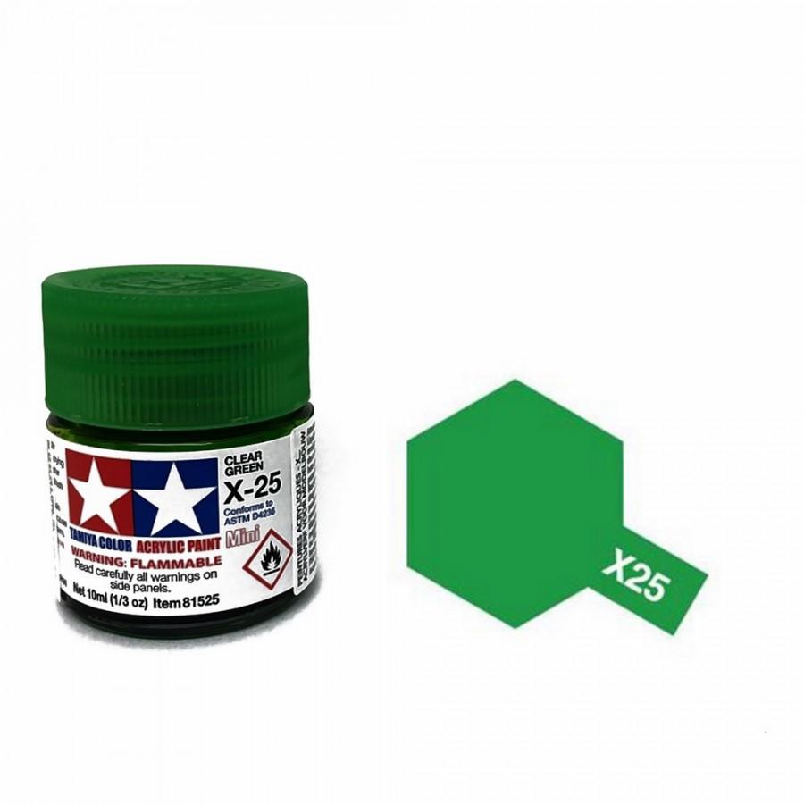 Vert translucide pot de 10ml-TAMIYA X25