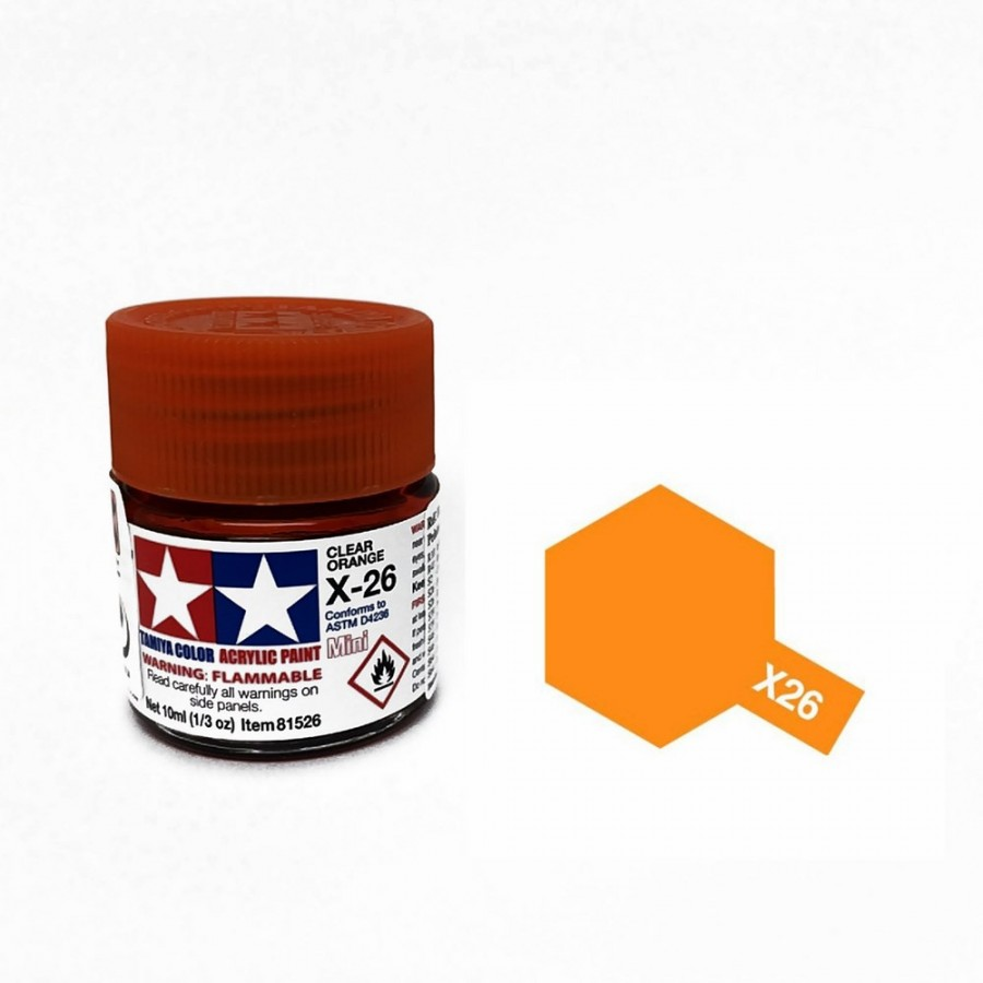 Orange translucide pot de 10ml-TAMIYA X26