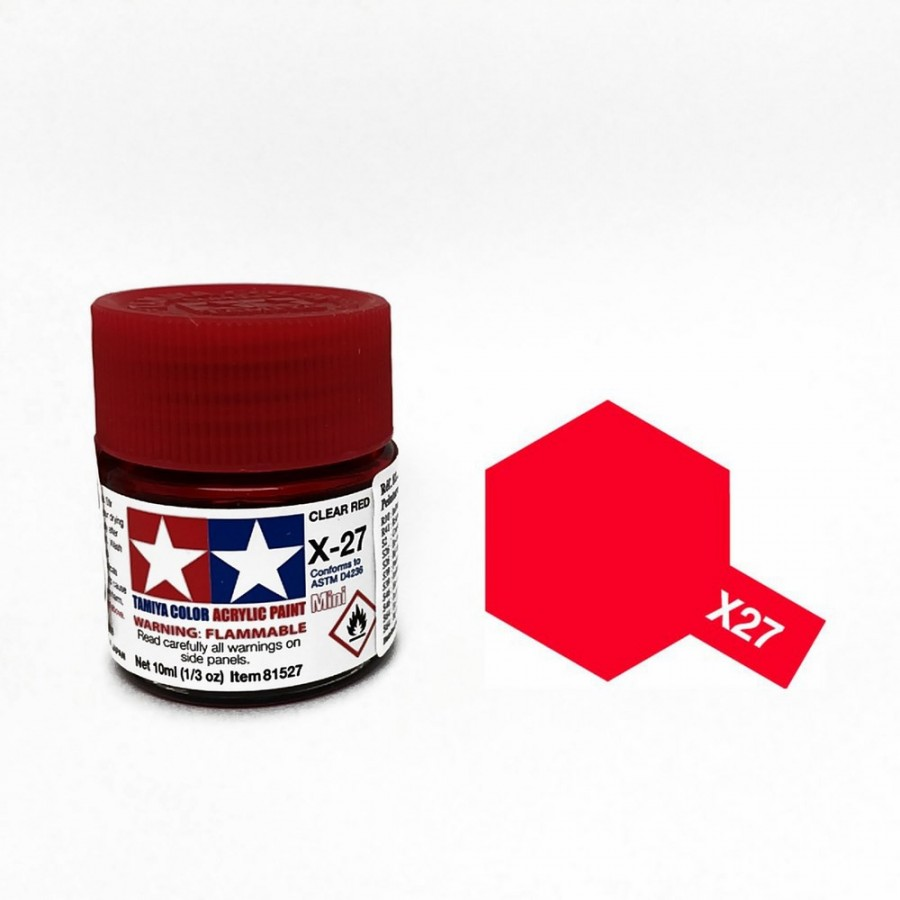Rouge translucide pot de 10ml-TAMIYA X27