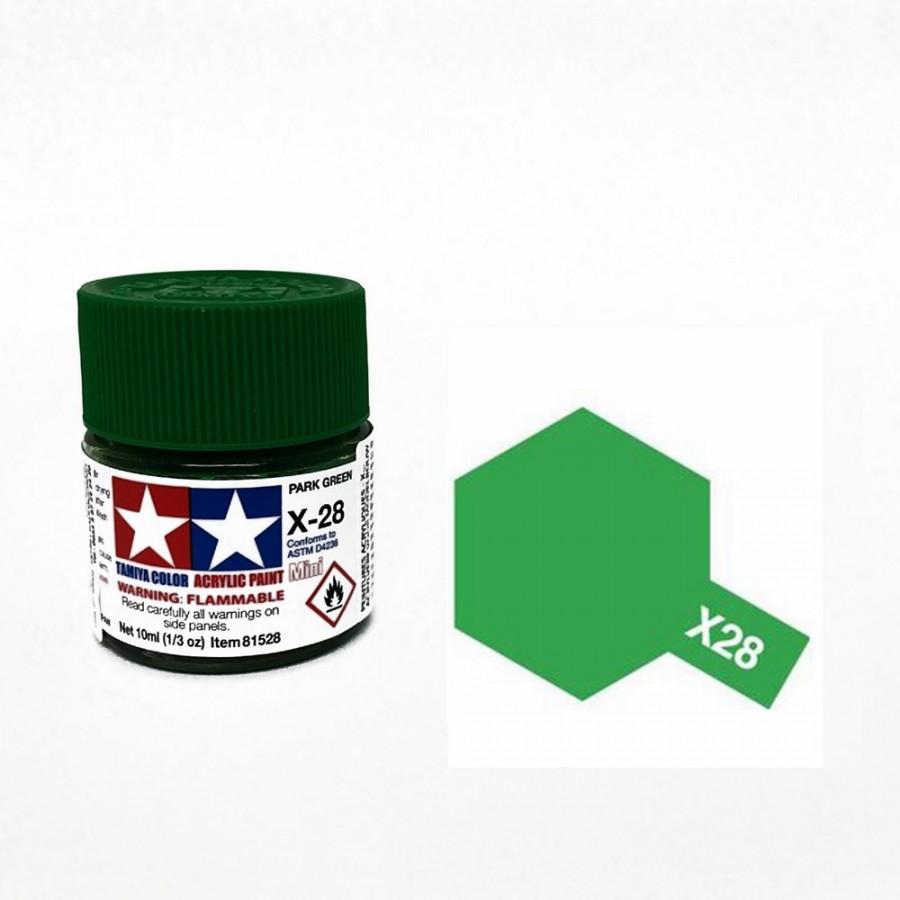 Vert de pré brillant pot de 10ml-TAMIYA X28
