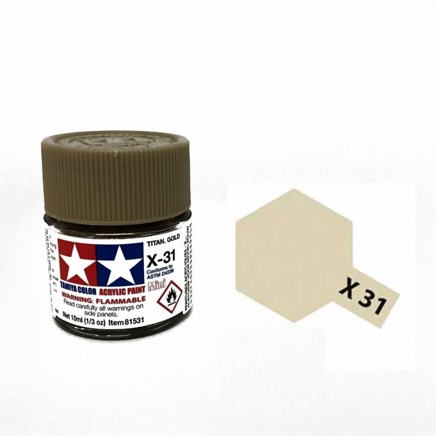 Titane doré brillant pot de 10ml-TAMIYA X31