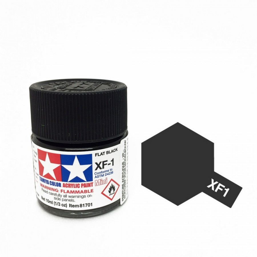 Noir mat pot de 10ml-TAMIYA XF1