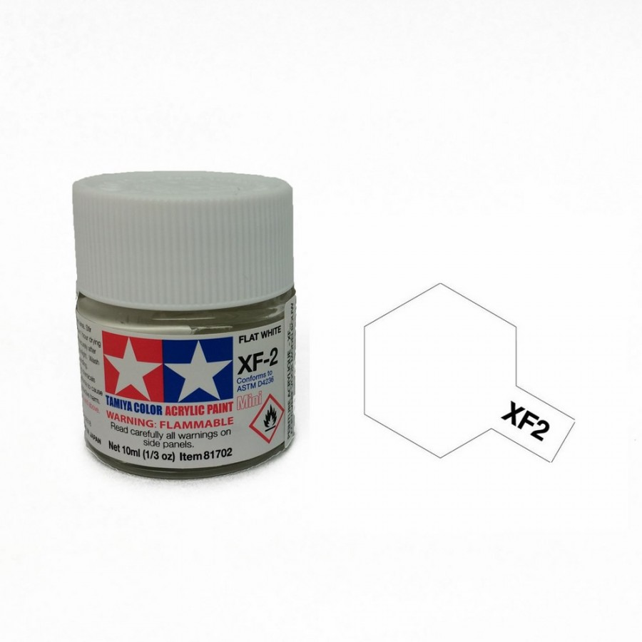 Blanc mat pot de 10ml-TAMIYA XF2