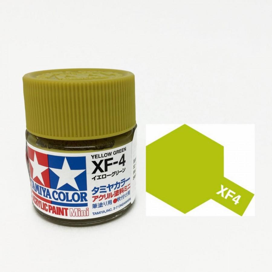 Vert-jaune mat pot de 10ml-TAMIYA XF4