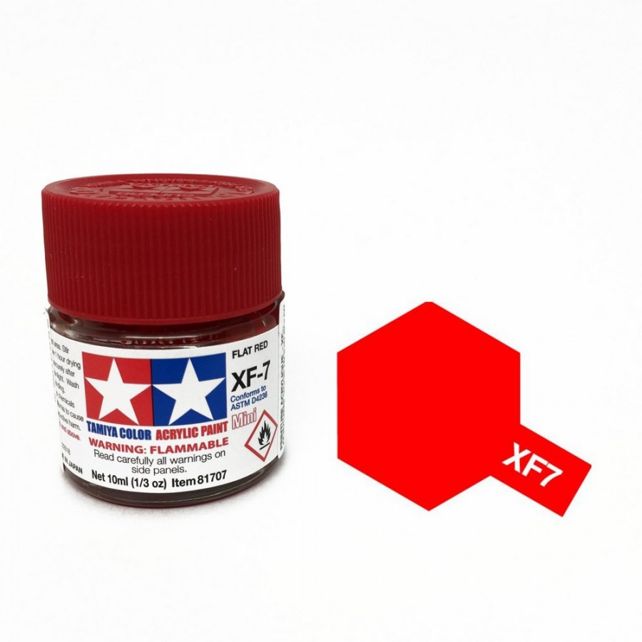 Rouge mat pot de 10ml-TAMIYA XF7