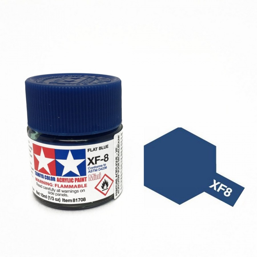 Bleu mat pot de 10ml-TAMIYA XF8