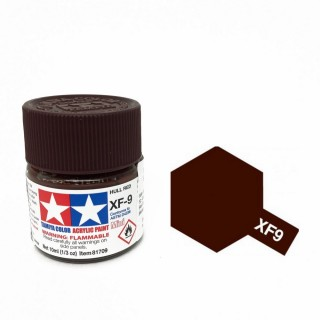 Rouge sombre mat pot de 10ml-TAMIYA XF9