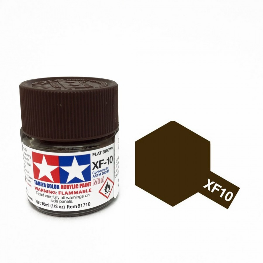 Marron mat pot de 10ml-TAMIYA XF10