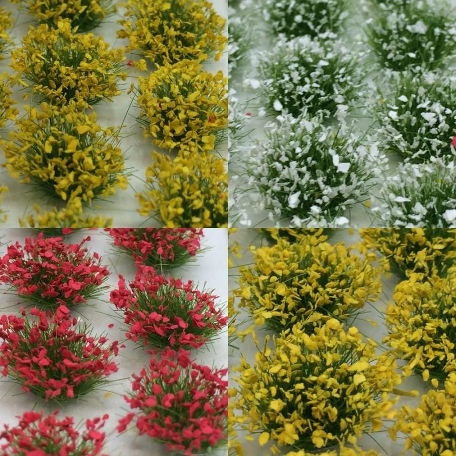 104 pieds d'herbe fleurie 4 coloris -HO-1/87-NOCH 07135