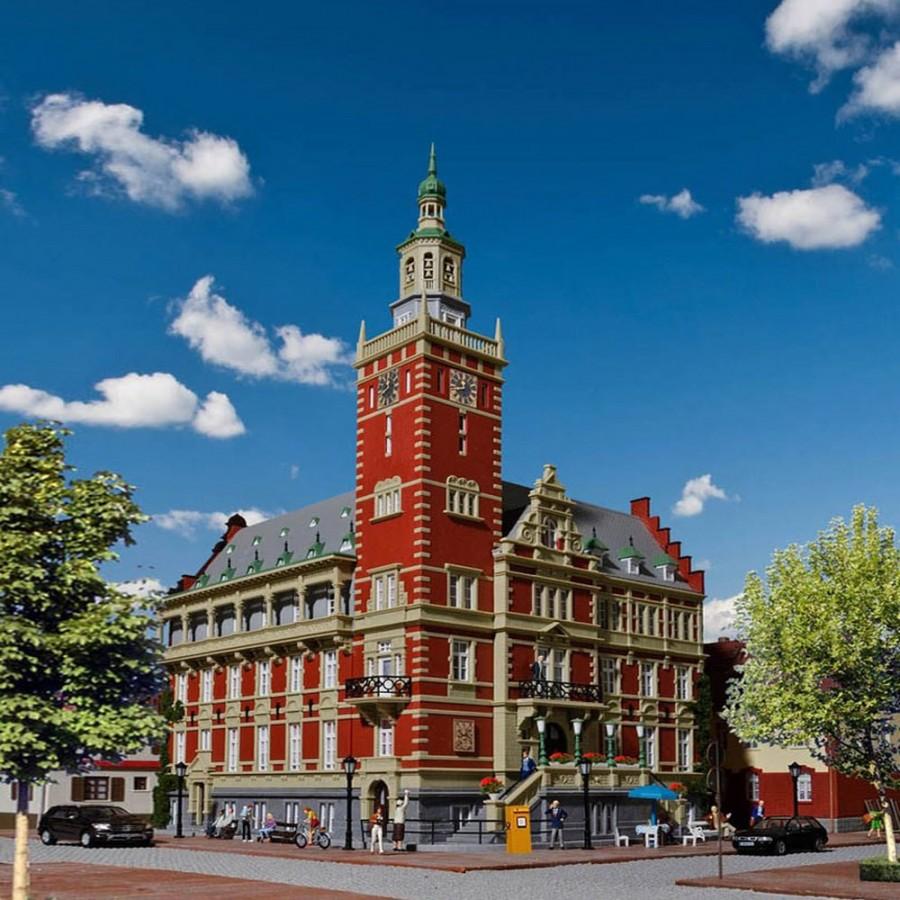 Hotel de ville mairie-HO-1/87-KIBRI 38381