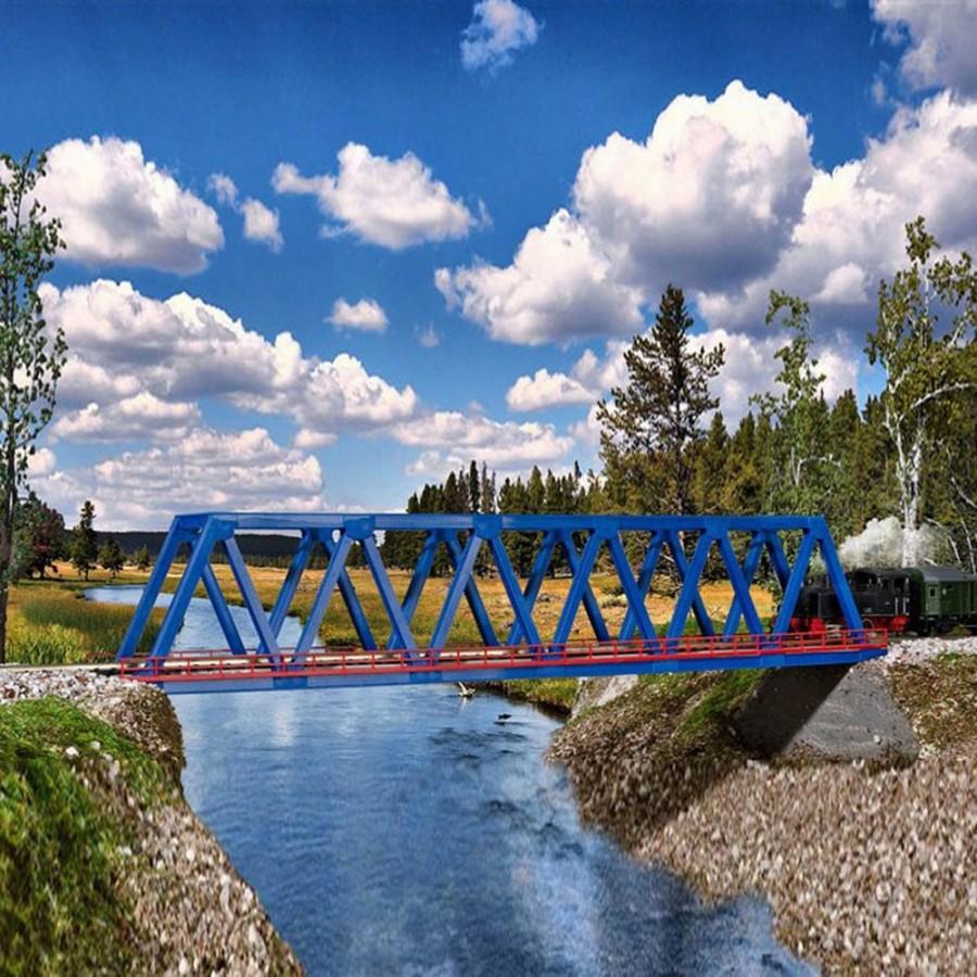 Pont droit type métallique 1 voie-N-1/160-KIBRI 37667