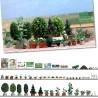 Set décoration pour jardinerie-HO-1/87-BUSCH 1211