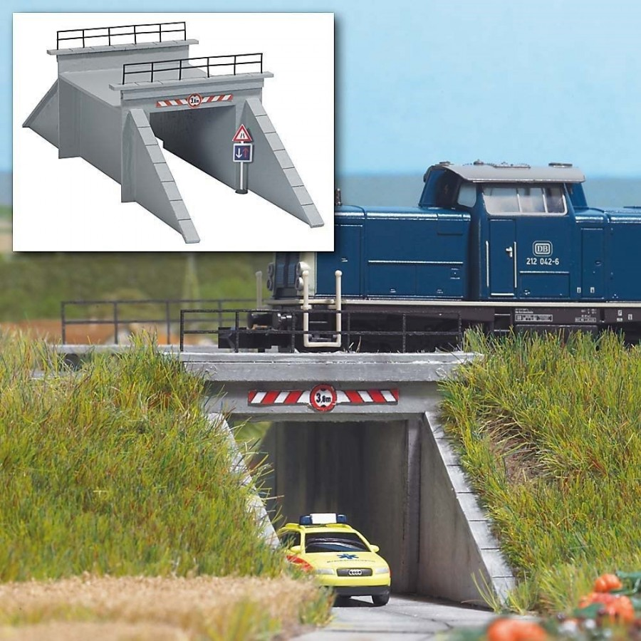 Petit pont pour passage voiture 1 voie-N-1/160-BUSCH 8150