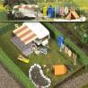 Scène de camping avec accessoires-HO-1/87-BUSCH 6023