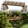 Petite pont piétons en bois-HO-1/87-BUSCH 1497