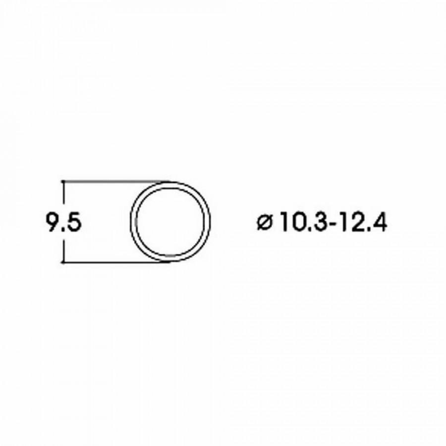 10 bandages de roue AC  diamètre10.3 à 12.4mm-HO-1/87-ROCO 40074