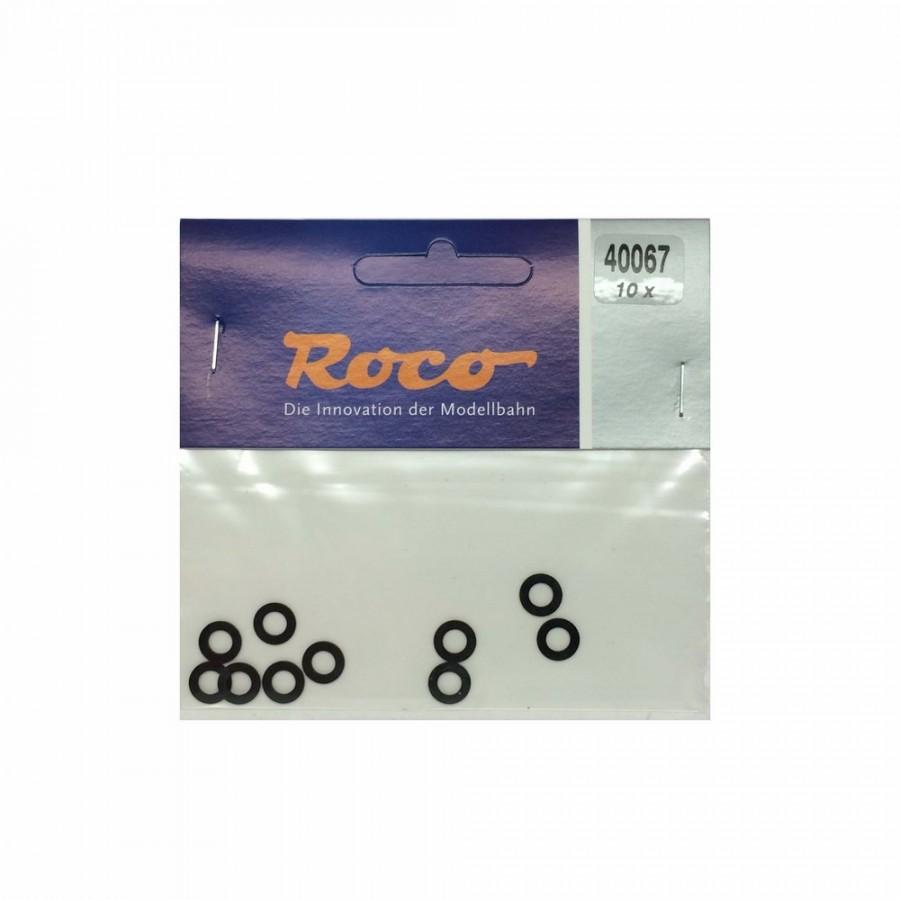 10 bandages de roue DC  diamètre 6.8 à 8.2mm-HO-1/87-ROCO 40067
