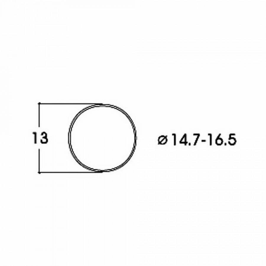 10 bandages de roue DC diamètre 14.7 à 16.5mm-HO-1/87-ROCO 40071