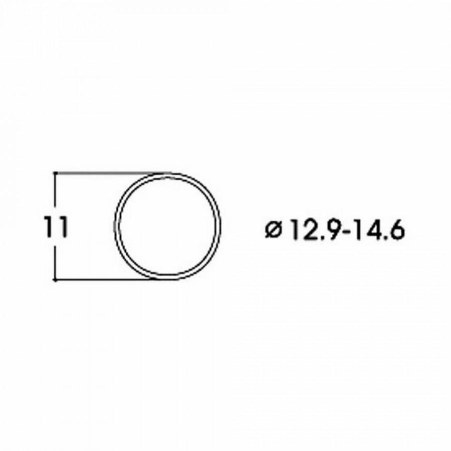 10 bandages de roue DC diamètre 12.9 à 14.6mm-HO-1/87-ROCO 40070