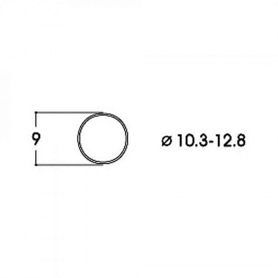 10 bandages de roue DC diamètre 10.3 à 12.8mm-HO-1/87-ROCO 40069
