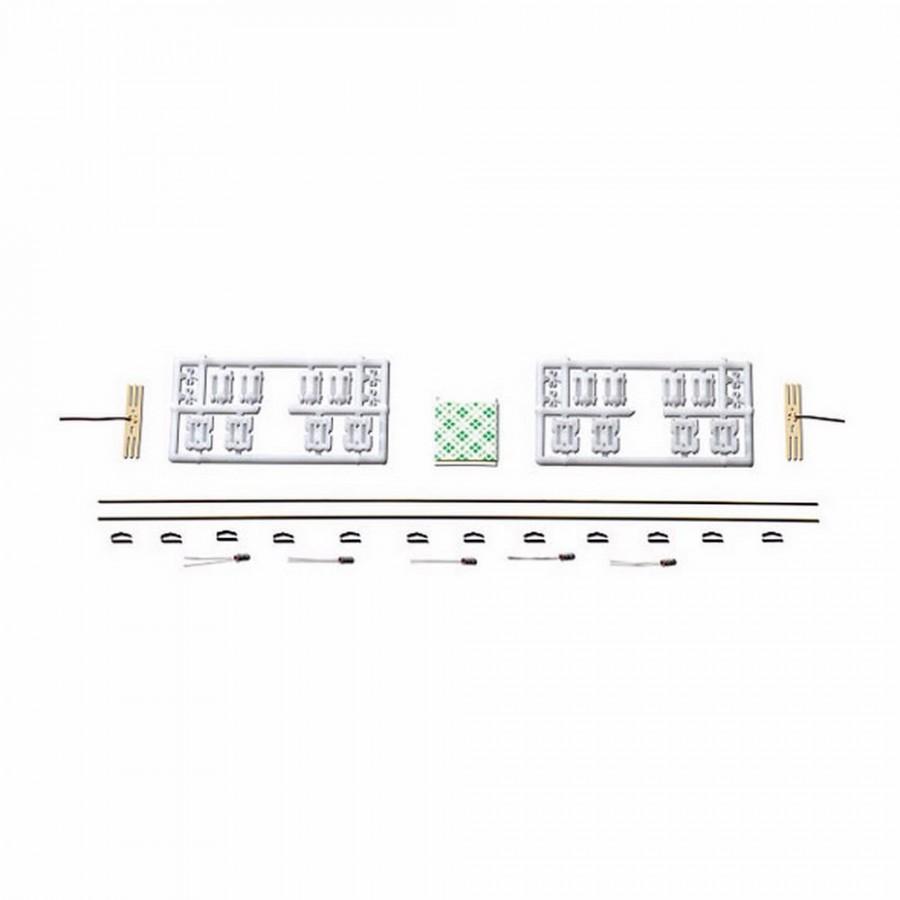 Réglette d'éclairage 5 ampoules pour wagon voyageur-HO-1/87-ROCO 40360