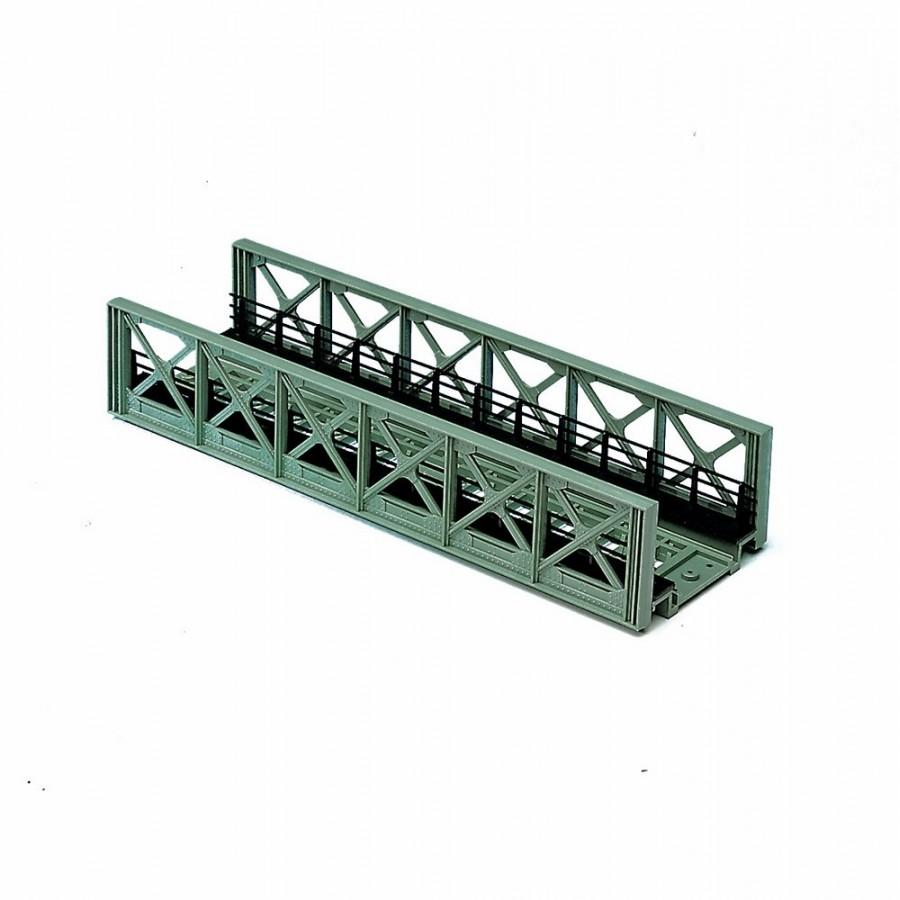 Pont caisson droit une voie type métallique-HO-1/87-ROCO 40080