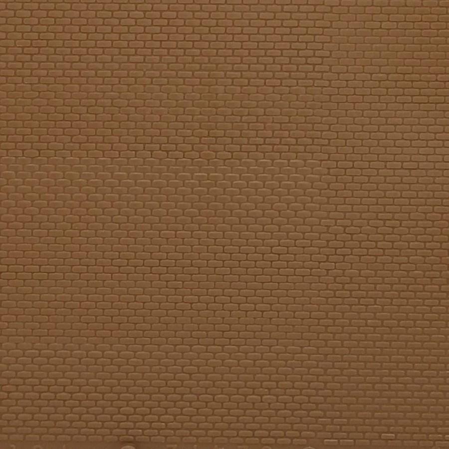 Plaque mur briques claires-HO-1/87-AUHAGEN 52413