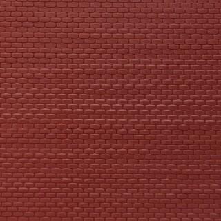 Plaque mur briques rouges-HO-1/87-AUHAGEN 52412
